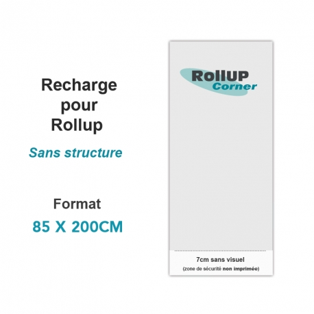 Recharge rollup seule (sans structure)- Rollup Corner